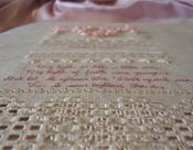 A teaser peek at the completed sampler