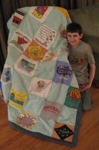 Thing One and his new quilt