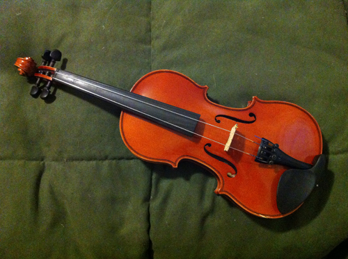 Craigslist violin - before repairs