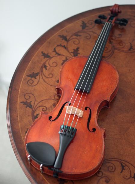 Willkommen auf der neuen Geige